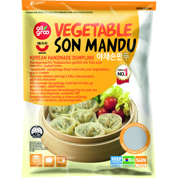 Allgroo Vegetable Son Mandu 540g (Frozen) - Longdan Online Supermarket