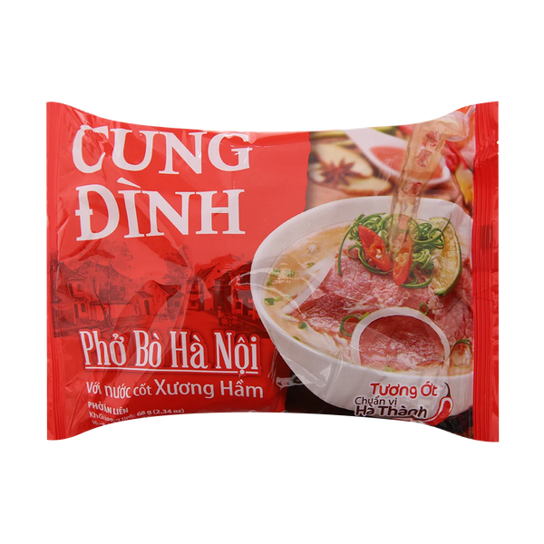 Cung Dinh Rice Noodle Beef Flavour Bag 68g - Pho Bo