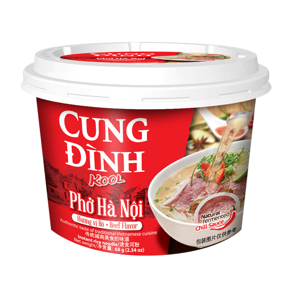 Cung Dinh Rice Noodle Beef Flavour Bowl 68g - Pho Bo