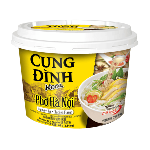 Cung Dinh Rice Noodle Chicken Flavour Bowl 68g - Pho Ga - Longdan Offical Online Store - UK Cash & Carry