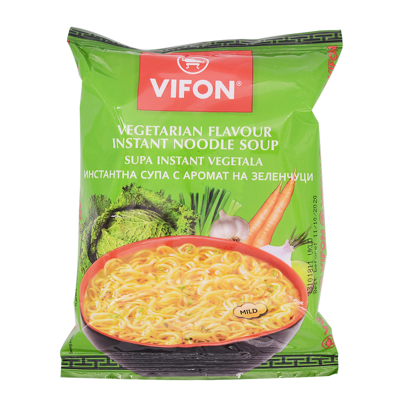 Vifon Vegetarian Flavour Instant Noodles 60g - Longdan Offical Online Store - UK Cash & Carry