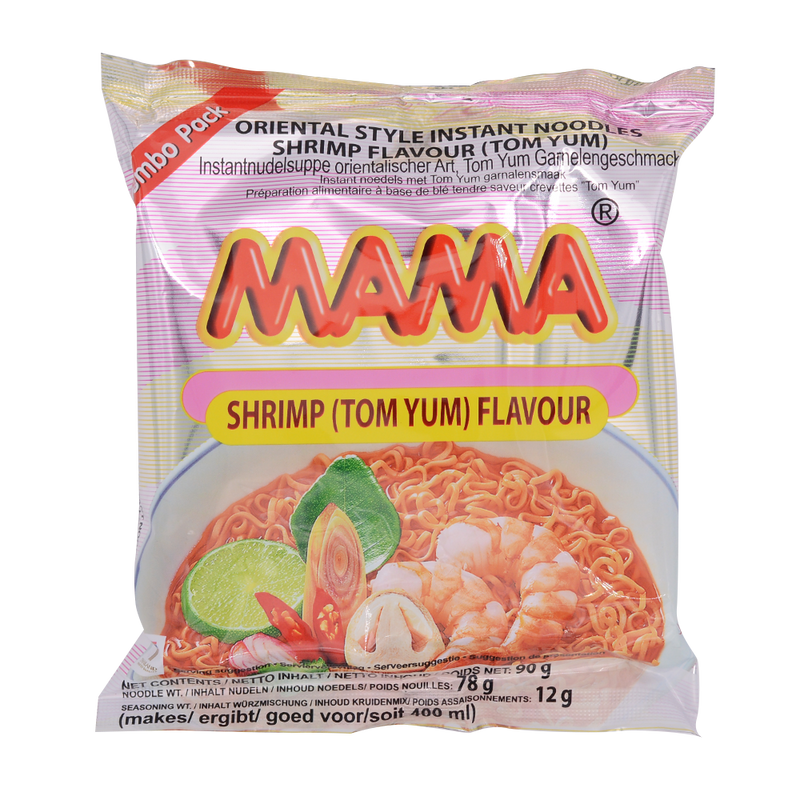 Mama Shrimp Tom Yum 90G - Longdan Offical Online Store - UK Cash & Carry