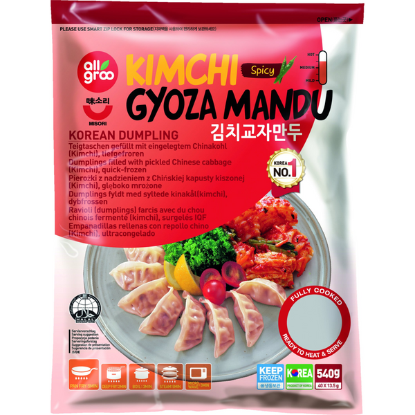 Allgroo Kimchi Gyoza Mandu 540g - Longdan Offical Online Store - UK Cash & Carry