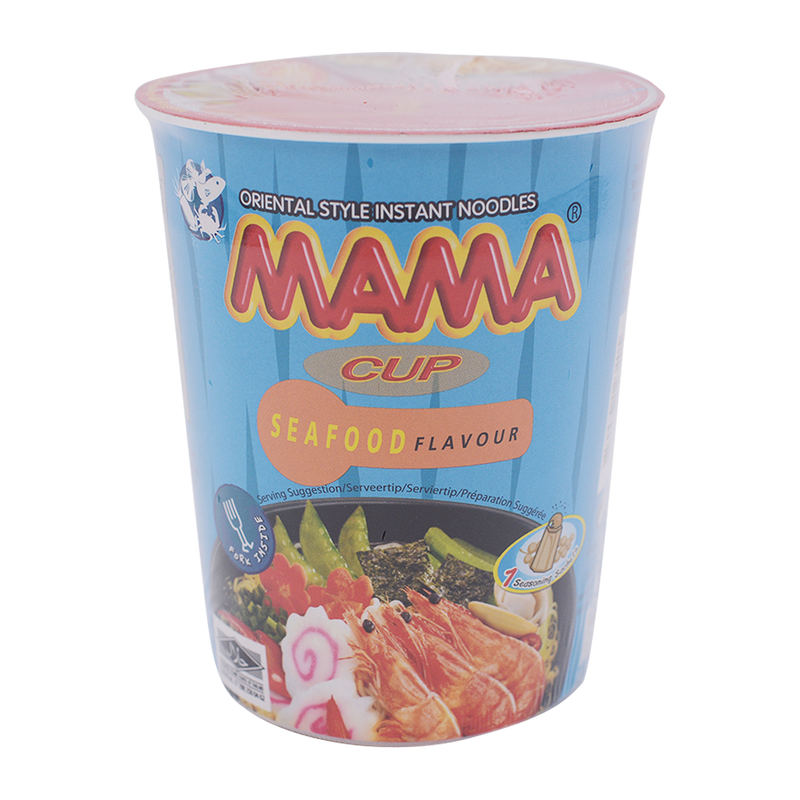 Mama Cup Noodle Seafood 70g - Longdan Offical Online Store - UK Cash & Carry