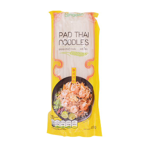 Longdan Pad Thai Noodles 4mm 400g - Longdan Offical Online Store - UK Cash & Carry