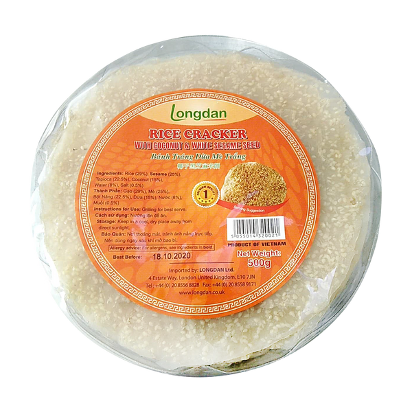Longdan Rice Cracker Coconut Sesame 500g