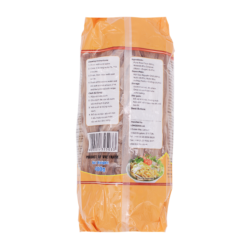 Longdan Hanoi Amber Rice Noodle 400g - Longdan Offical Online Store - UK Cash & Carry