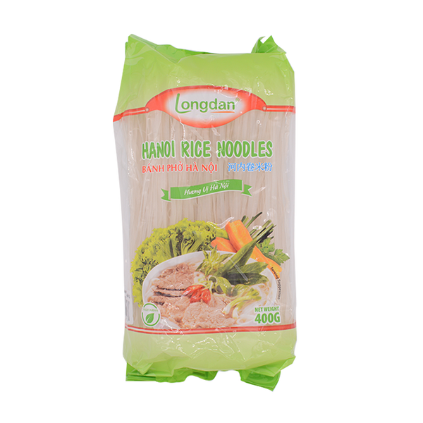 Longdan Hanoi Rice Noodles Straight 400g - Longdan Offical Online Store - UK Cash & Carry