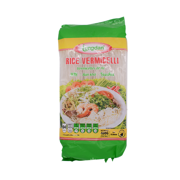 Longdan Rice Vermicelli 0.8mm 400g - Longdan Offical Online Store - UK Cash & Carry