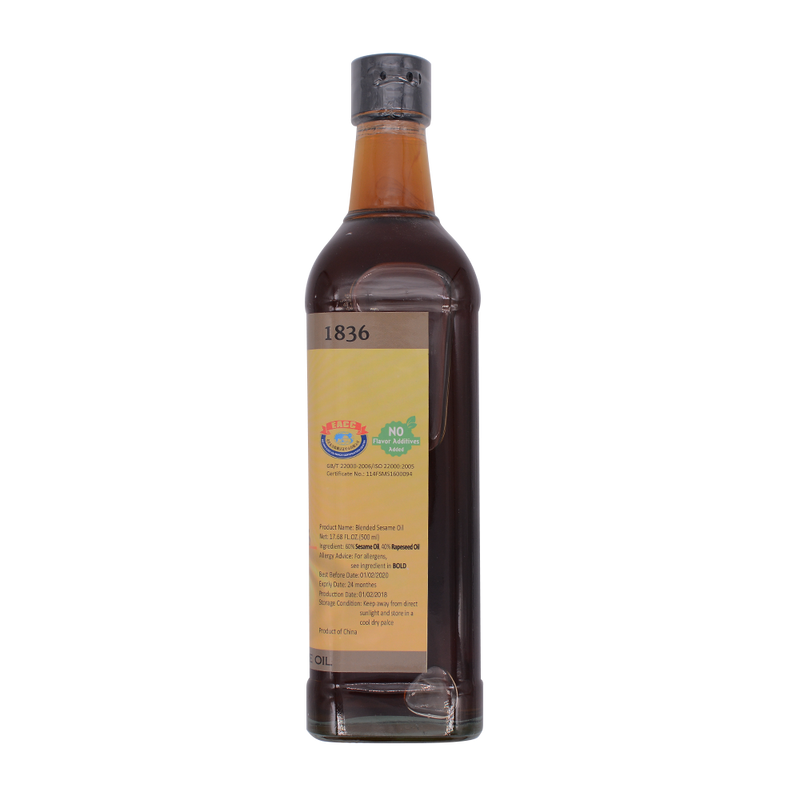 Shaohsing Castel Sesame Oil Blended 500ml - Longdan Offical Online Store - UK Cash & Carry