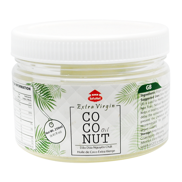 Tofuhat Extra Virgin Coconut Oil 250Ml - Longdan Offical Online Store - UK Cash & Carry