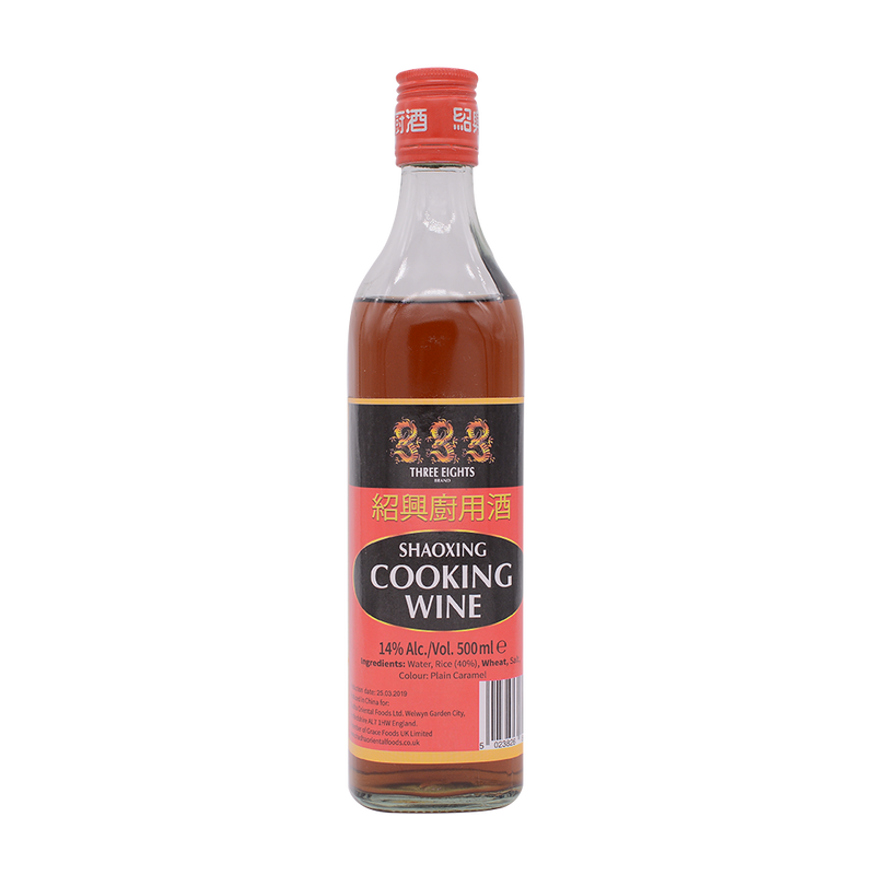 Three 8 shaoxing cooking wine 500ml - Longdan Offical Online Store - UK Cash & Carry