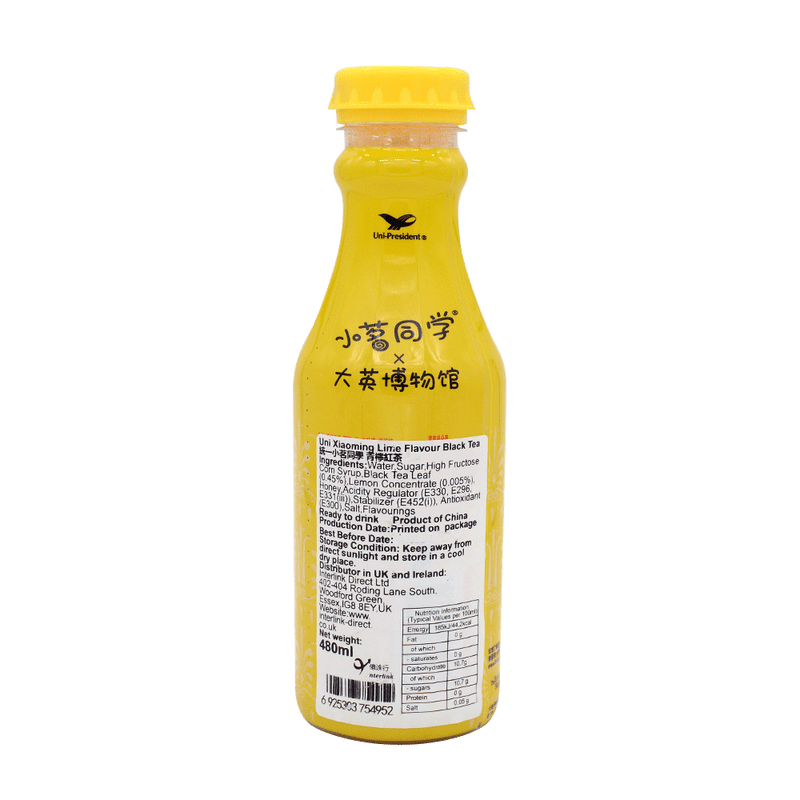Unif Xiaoming Lime Flavour Black Tea 480ml - Longdan Online Supermarket