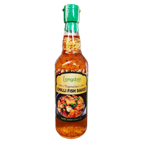 Longdan Vegetarian Chilli Fish Sauce 500ml - Longdan Online Supermarket