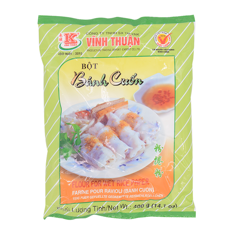 Vinh Thuan Flour For Wet Rice Paper 400G - Longdan Offical Online Store - UK Cash & Carry
