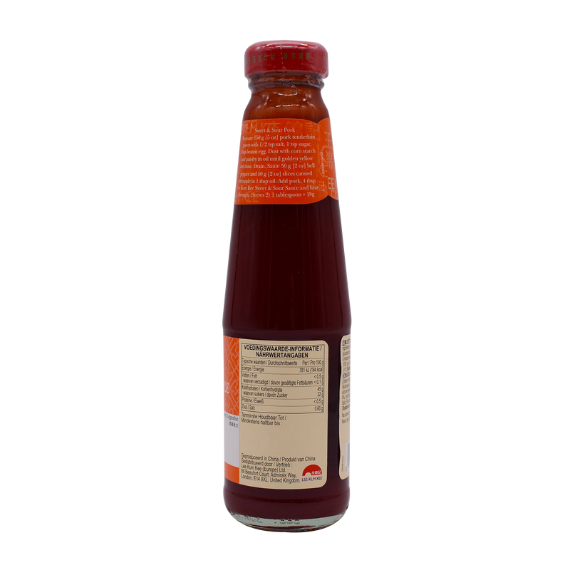 Lee Kum Kees Sweet & Sour Sauce 240g - Longdan Offical Online Store - UK Cash & Carry