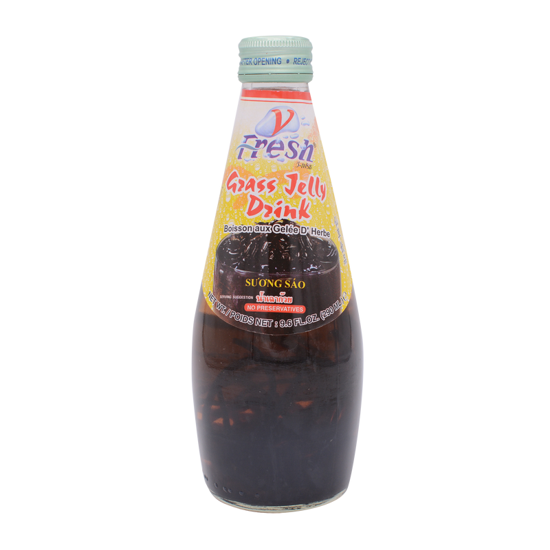 V-Fresh Grass Jelly Drink (Bottle) 290ml - Longdan Offical Online Store - UK Cash & Carry