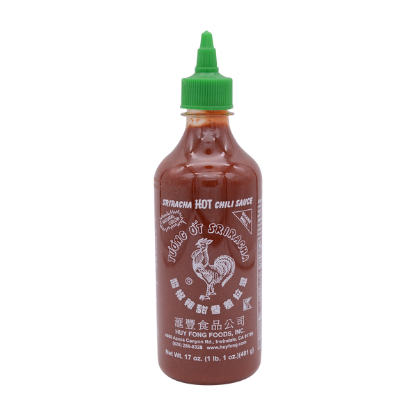 Huy Fong Sriracha Hot Chilli Sauce Usa 482g (435ml) - Longdan Offical Online Store - UK Cash & Carry