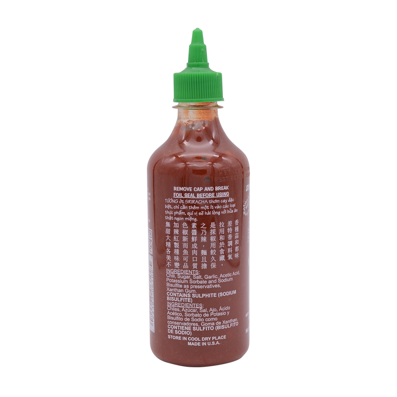 Huy Fong Sriracha Hot Chilli Sauce Usa 482g (435ml) - Longdan Online Supermarket