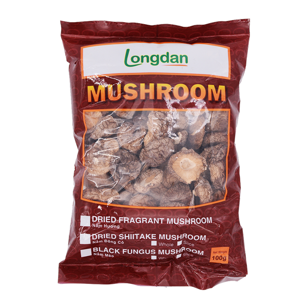 Longdan Dried Chinese Mushroom 100g - Longdan Online Supermarket