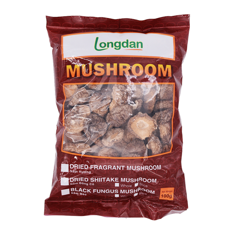 Longdan Dried Chinese Mushroom 100g - Longdan Offical Online Store - UK Cash & Carry