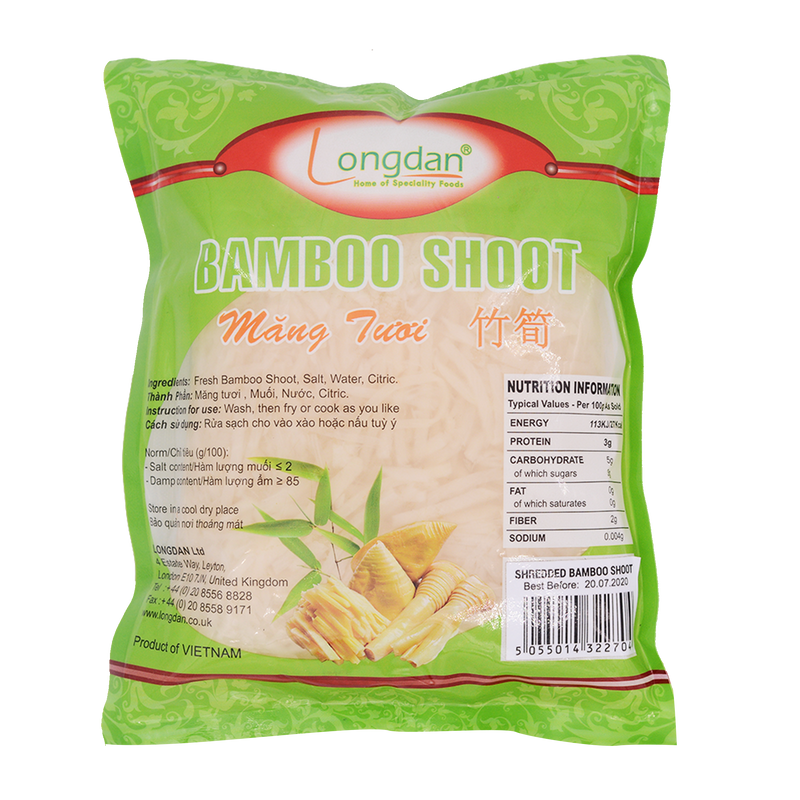 Longdan Shredded Bamboo Shoot in Brine 500gr - Longdan Offical Online Store - UK Cash & Carry