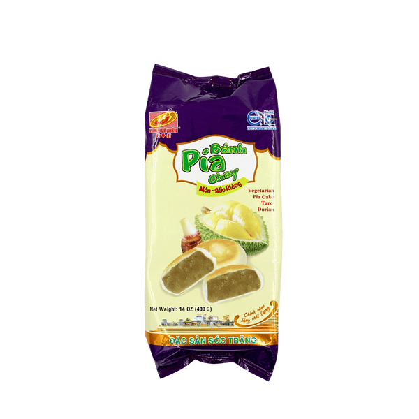 Tan Hue Vien Durian & Taro Vegetarian Pia Cake 400g - Longdan Offical Online Store - UK Cash & Carry