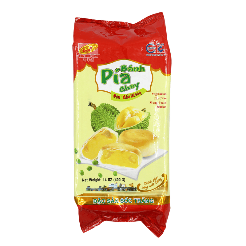 Tan Hue Vien Durian & Mungbean Vegetarian Pia Cake 400g - Longdan Offical Online Store - UK Cash & Carry