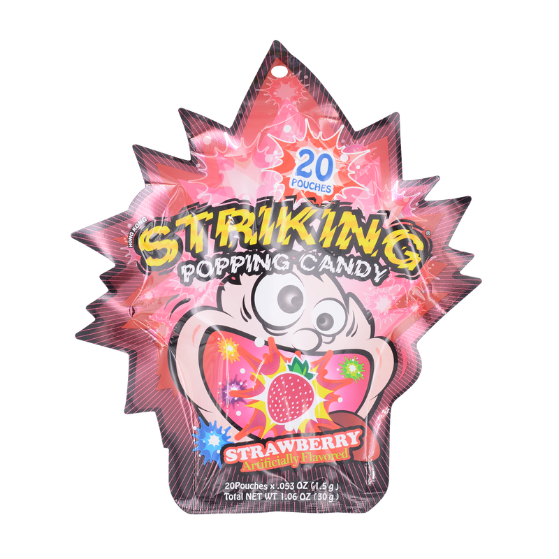 Yu Hin Popping Candy Strawberry Flavor 30g - Longdan Online Supermarket
