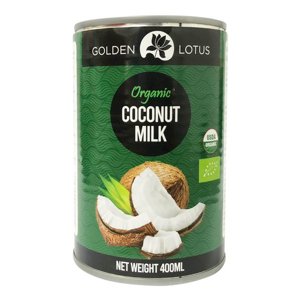 Golden Lotus Organic Coconut Milk 400ml (17-19%) - Longdan Online Supermarket