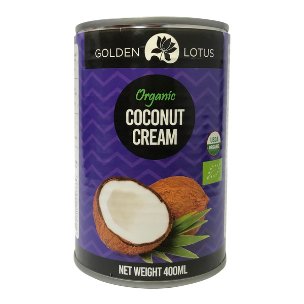 Golden Lotus Organic Coconut Cream 400ml (20-22%) - Longdan Online Supermarket