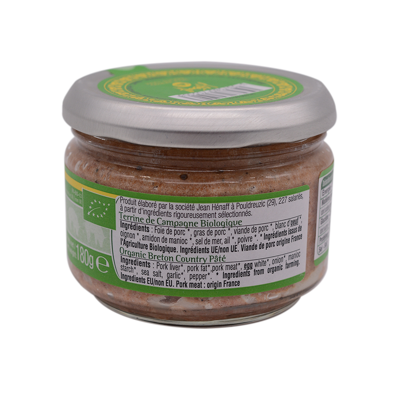 Hernaff Organic Breton Country Pate 180g - Longdan Offical Online Store - UK Cash & Carry