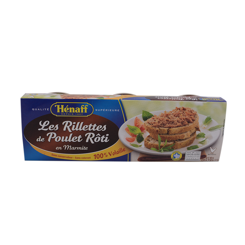 Hernaff Rillettes De Poulet/ Roasted Chicken Rillettes 72g - Longdan Offical Online Store - UK Cash & Carry