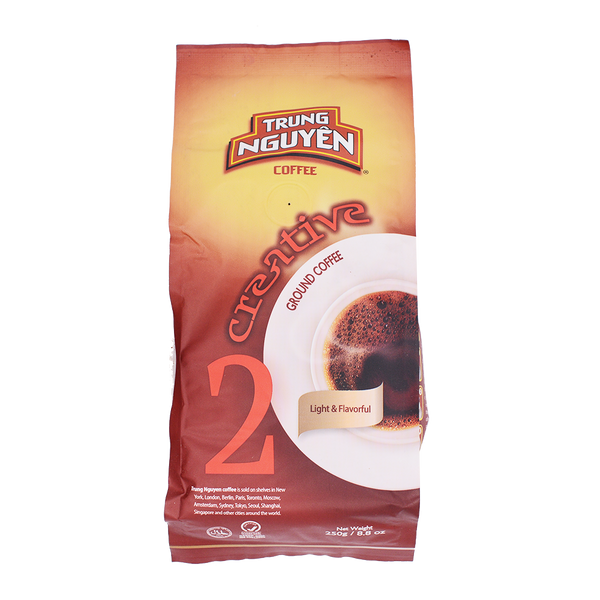 Trung Nguyen Creative 2 Ground Coffee 250g - Longdan Offical Online Store - UK Cash & Carry