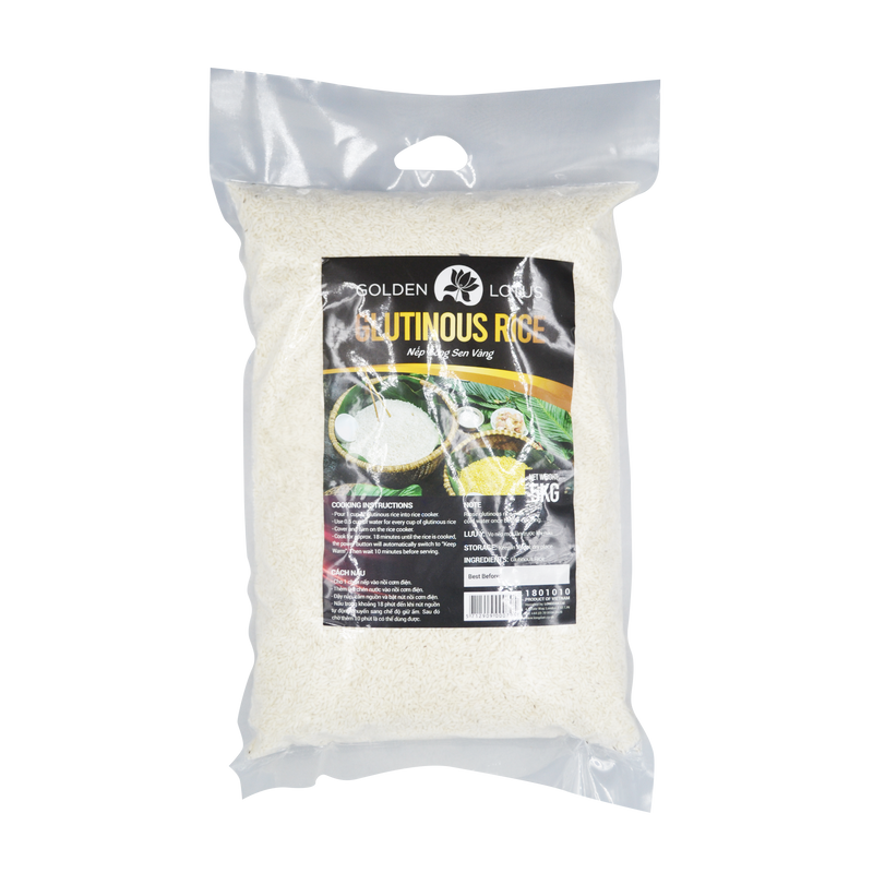 Golden Lotus Glutinous Rice 5kg - Longdan Online Supermarket