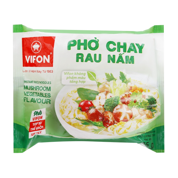 Vifon Vietnamese Style Instant Rice Noodles Mushroom Vegetables Flavor 65g - Longdan Offical Online Store - UK Cash & Carry