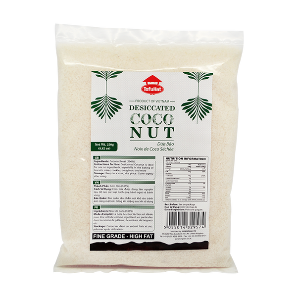 Tofuhat Desiccated Coconut 250G - Longdan Offical Online Store - UK Cash & Carry