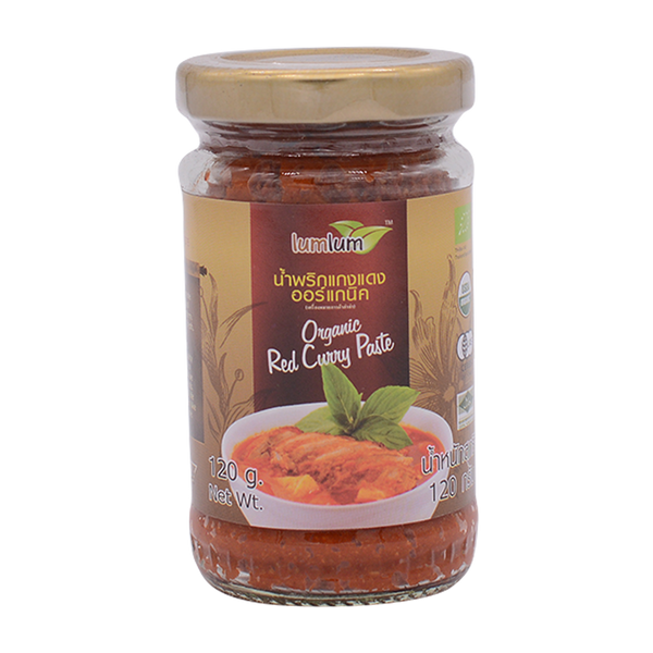 LumLum Organic Red Curry Paste 120g - Longdan Online Supermarket