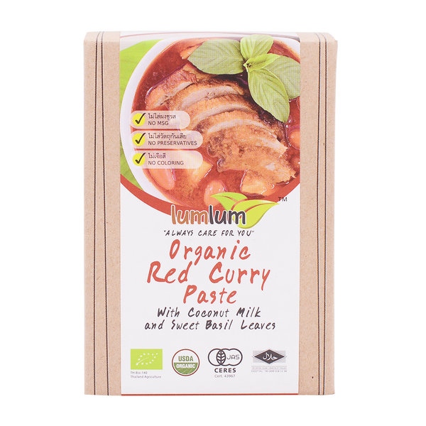 LumLum Organic Red Curry Paste with Coconut Cream 100g - Longdan Online Supermarket