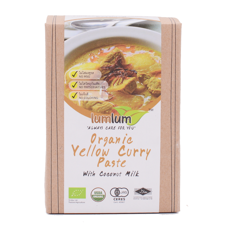 LumLum Organic Yellow Curry Paste with Coconut Cream 100g - Longdan Offical Online Store - UK Cash & Carry