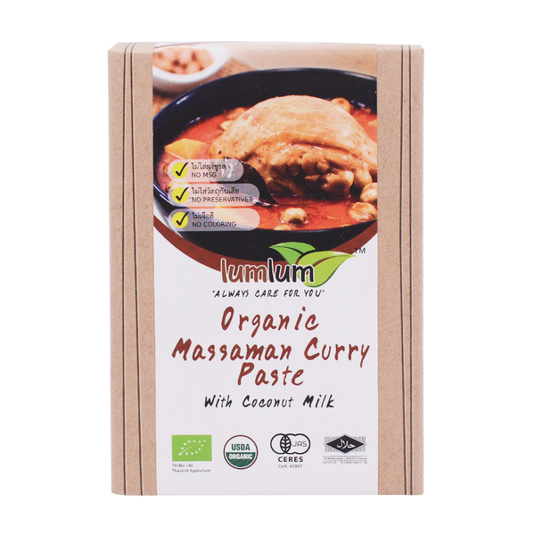 LumLum Organic Massaman Curry Paste 100g - Longdan Online Supermarket