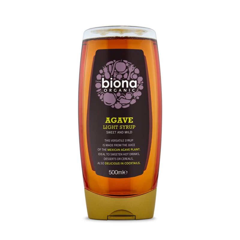BIONA ORG Agave Syrup/ Nectar Light - Squeezy 500ml - Longdan Online Supermarket