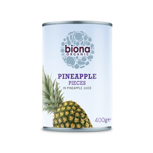 BIONA ORG Pineapple pieces in Pineapple juice 400g