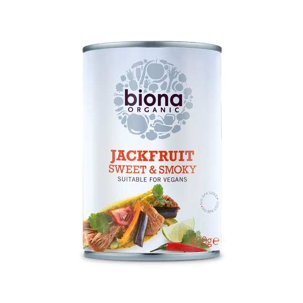 BIONA ORG Sweet & Smoky Jackfruit in Can 400g