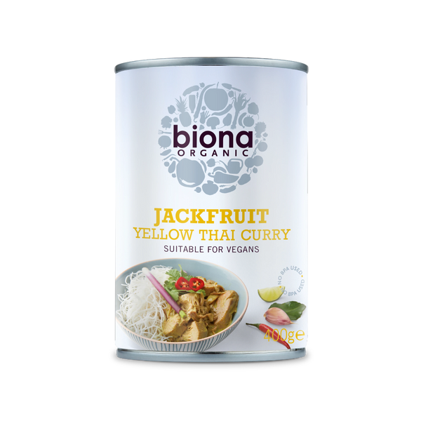 BIONA ORG Yellow Thai Curry Jackfruit in Can 400g