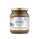 BIONA Organic Brown Lentils Demeter - in Glass Jars 360g - Longdan Online Supermarket