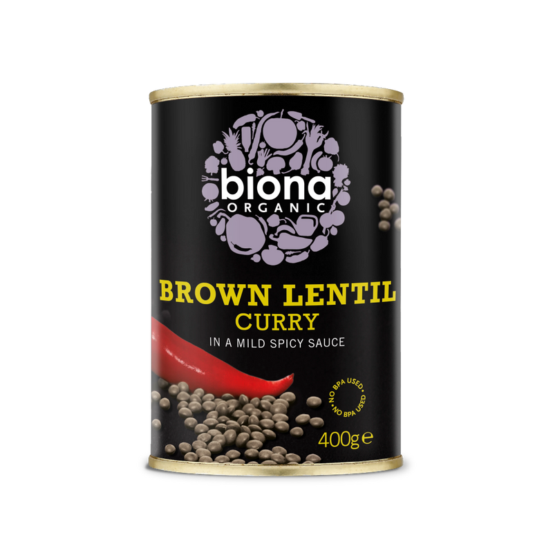 BIONA Organic Brown Lentil Curry - no BPA 400g - Longdan Online Supermarket