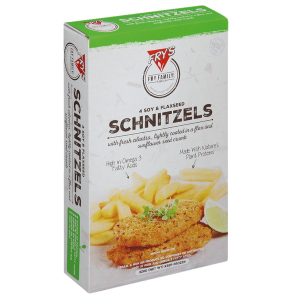 FRYS 4 Soy and Flaxseed Schnitzels 320g - Longdan Online Supermarket