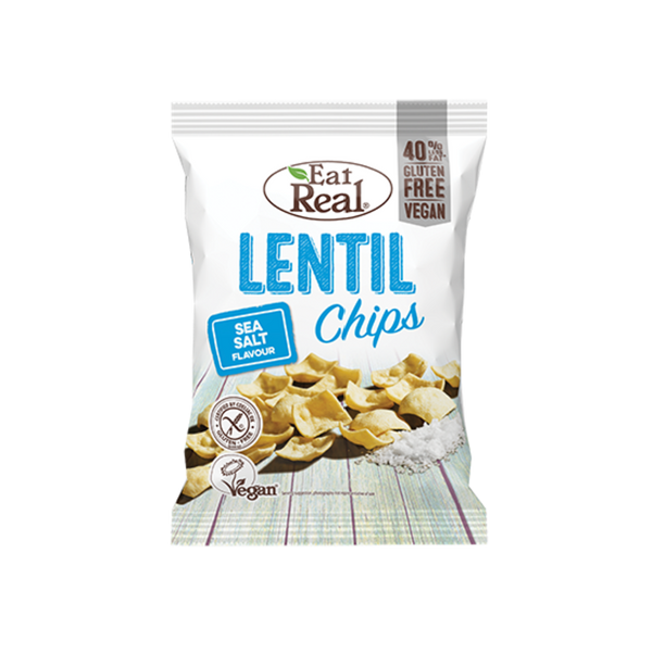 EAT REAL Lentil Chips Sea Salt 113g