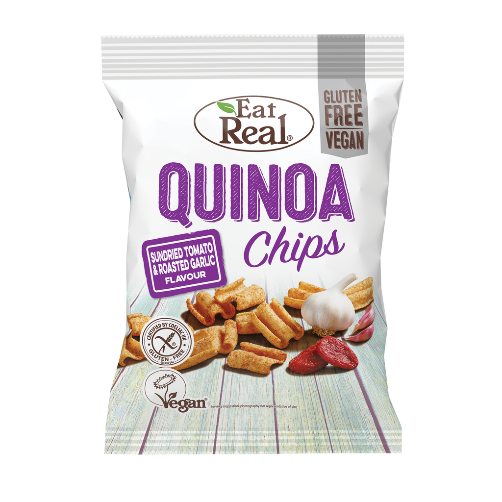 EAT REAL Quinoa Tomato & Garlic Chips 30g - Longdan Online Supermarket